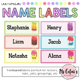 Editable Name Labels (Ice-Cream)