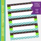 Name Labels / Desk Plates - Turquoise Chevron and Polkadot