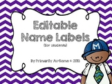 Editable Name Labels with Melonheadz Accents