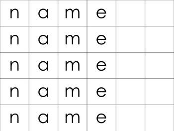 Editable Name Mats