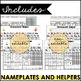 Editable Desk Name Plate and Homework Helper for 1st - 2nd Grade