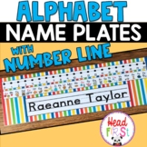Editable Name Plate Desk Plate with Alphabet and Number Line