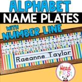 Editable Desk Name Tags Plates with Handwriting Lines Homework Helper