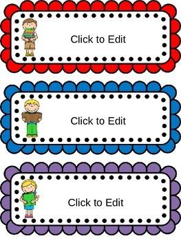 Editable Name Plates!