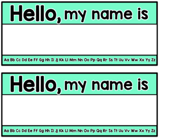 Name Tags {5 OPTIONS!}