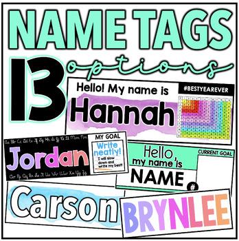 Name Tags {6 OPTIONS!}
