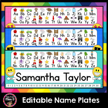 Name Tags / Nameplates EDITABLE