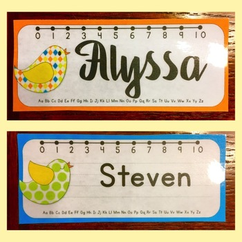 Editable Name Plates (Bird Theme)