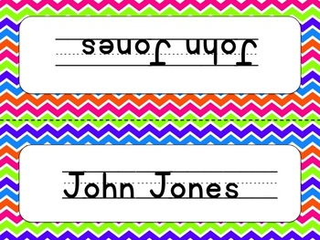 Editable Name Plates- Colorful Punch