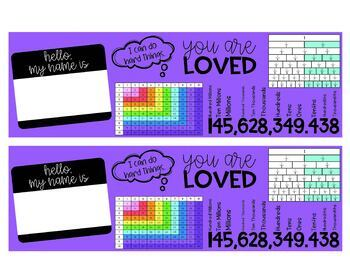Editable Name Plates, Desk Name Tags, Desk Plates, Bright Desk Helpers