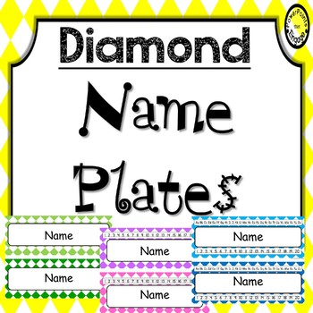 Editable Name Plates ~ Diamond
