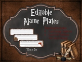 Editable Name Plates: Harry Potter Inspired