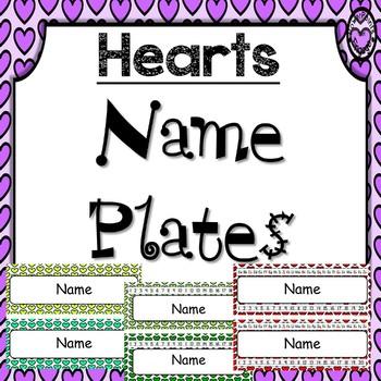 Editable Name Plates ~ Hearts