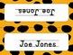 Editable Name Plates- Jungle Theme