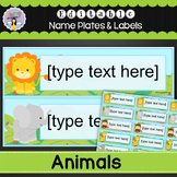 Editable Name Labels - Jungle Animals and Pets