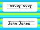 Editable Name Plates- Lime and Turquoise