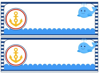Editable Name Plates and Labels : Nautical