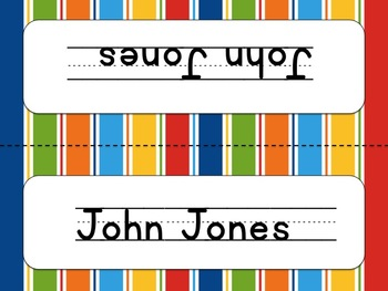 Editable Name Plates- Primary Patterns