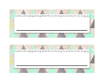 Editable Name Plates - Retro Theme
