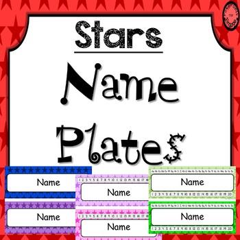 Editable Name Plates ~ Stars