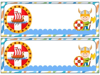 Editable Labels and Name Tags : Vikings