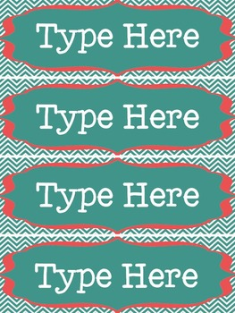 Editable Nameplates & Classroom Labels for Dots on Turquoise Lovers