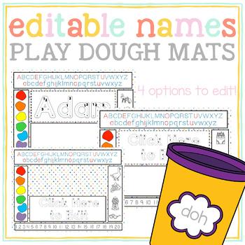 Editable Name Play Dough Mats