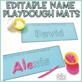 Editable Name Playdough Mats