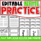 Name Practice Activities - EDITABLE