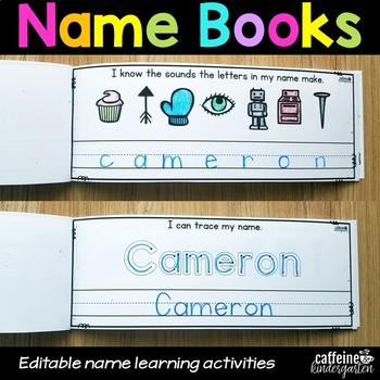 Editable Name Practice Books
