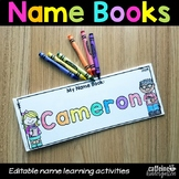 Editable Name Practice Books - Back to School Activities