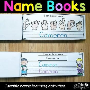 Editable Name Practice Books - Back to School Activities