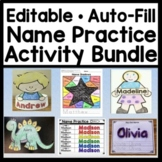Name Writing Practice - Editable Activities {Auto-Fill!} {Name Tracing Editable}