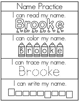 Editable Name Practice Set 2