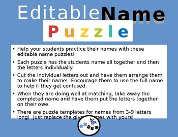 Editable Name Puzzle!