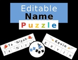 Editable Name Practice: A Name Puzzle