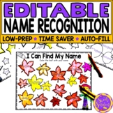 Editable Name Practice | Name Recognition Color My Name Wo