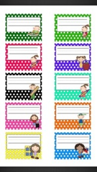 Editable Name Tags...with new, bigger tags!