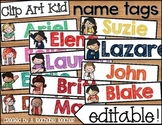 Name Tags - Editable