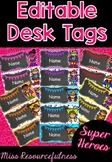 Editable Name Desk Tags - Back to School Labels