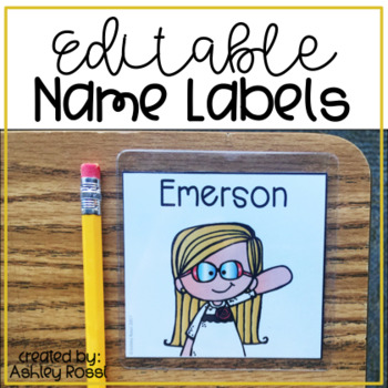 Editable Student Labels For Name Tags or Book Bins