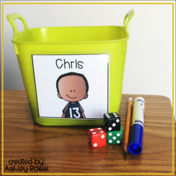 Name Tags Editable Book Bin Labels