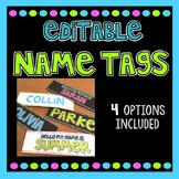 Editable Name Tags - BRIGHT