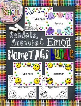 Editable Name Tags BUNDLE {From Sketch to School}