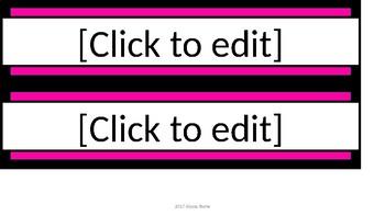 Editable Name Tags - Black & Pink