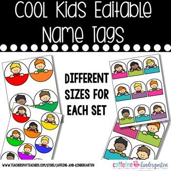 Editable Name Tags - Cool Kids Name Tags