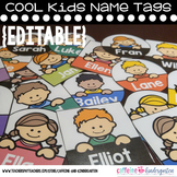 Editable Name Tags - Cool Kids Name Tags