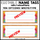 Editable Name Tags Cursive & Print (Calm and Natural Classroom Theme)