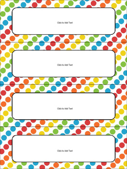 Editable Name Tags and Desk Plates in Bright Colors FREEBIE