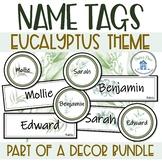 Editable Name Tags Eucalyptus Classroom Decor